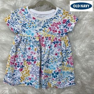 🎈Old Navy short Sleeve Floral Dress 3-6 Months